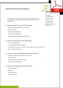 Patienteninformation Mundgeruch. Praxis Dr. Karl-Uwe Jülich