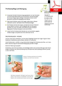 Anleitung zur Prothesenpflege und Reinigung